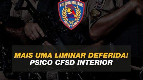Justiça reverte eliminação de candidato do Exame Psicológico do CFSD/2020 Interior PMMG